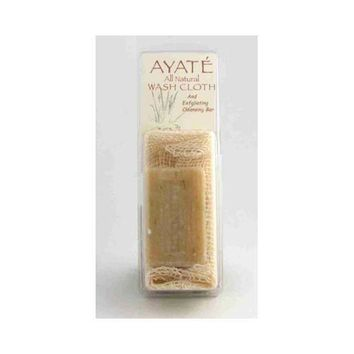 Thai Deodorant Stone Ayate All Natural Wash Cloth With Cleansing Bar (1 Bar)