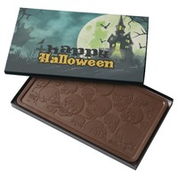 Spooky Haunted House Costume Night Sky Halloween Milk Chocolate Bar