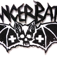 "CANCER BATS Iron On Sew On Embroidered Patch 4.5""/12cm"