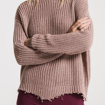 Rag Poets - Mauve Valle Sweater