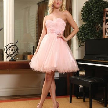 Q1122 Tulle Homecoming Cocktail Dress