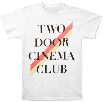 Two Door Cinema Club Men's  Stripe Slim Fit T-shirt White Rockabilia