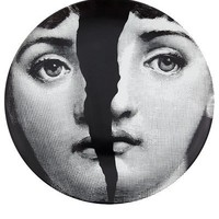 Fornasetti Porcelain Wall Plate - L?Eclaireur - farfetch.com - Item 10092954