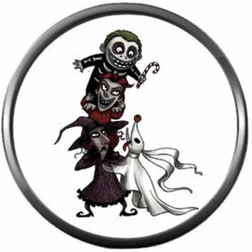 Zero Lock Shock And Barrel Nightmare Before Christmas Jack Skellington 18MM - 20MM Charm for Snap Jewelry New Item
