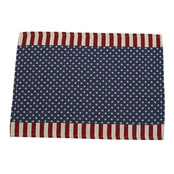 American Flag Pattern Table Flags Table Runner Placemat Home Hotel Tablecloth