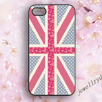 British Flag iPhone 5s Case,Union Jack floral girly iPhone 5/5c Case,iPhone 4/4s,England Flag Hearts Flowers Pattern galaxy s3 s4 s5 case