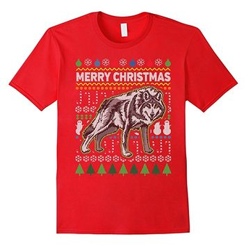 Wolf Ugly Holiday T-shirt - Merry Christmas