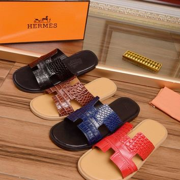 Hermes Oran Sandals - slippers - flip flops for men Size: 384