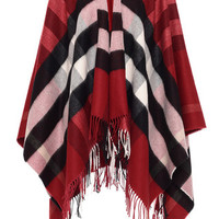 Parade Red Collette Merino Wool Cashmere Cape