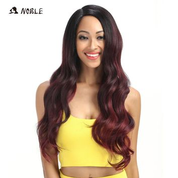 Noble Hair Lace Front ombre blonde Wig 28 inch Long wavy red african american Synthetic Wigs