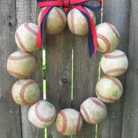 Baseball Love Wreath - Two Ribbons.. on Luulla