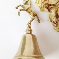 Brass Unicorn Bell / Unicorns / Unicorn Collectable / Collectable Animals / Collectable Figurine / Brass Unicorn Figurine