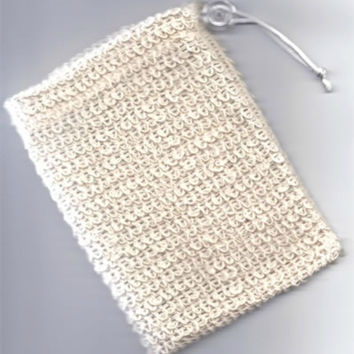 Natural Fiber Sisal Mesh Soap Saver Sock Pouch Holder-Face & Body Luxury Skincare