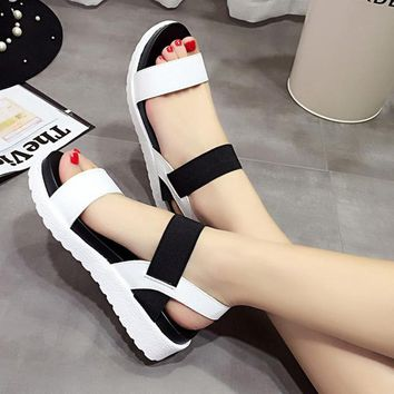 Sandals women shoes 2018 new peep-toe women sandals summer roman ladies flip flops footwear sandals shoes woman