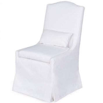 Sierra Dining Chair with Peyton Pearl Fabric