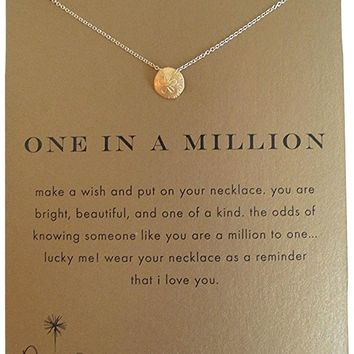 """Dogeared Gold Dipped One in a Million 16"""" Pendant Necklace"""