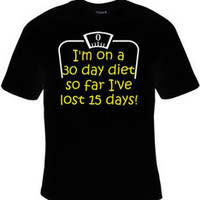 30 day diet tee shirts Cool Funny Humor TShirts Tees, Rude Tees Offensive T-Shirt design