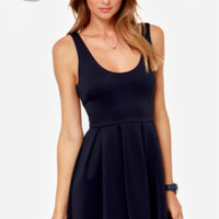 LULUS Exclusive Close to You Navy Blue Dress