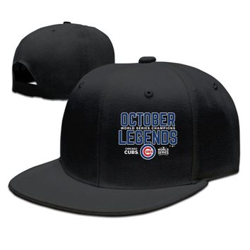 Chicago Cubs 2016 World Series Champions Legends Cotton Unisex Adult Womens Hip-hop Hat Mens Fitted Hats