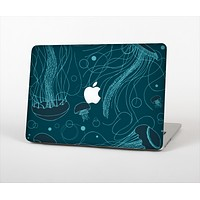 The Dark Vector Teal Jelly Fish Skin Set for the Apple MacBook Air 11""