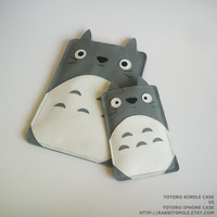 Totoro Kindle 3 case/ Kindle Fire case / Kindle by rabbitsmile