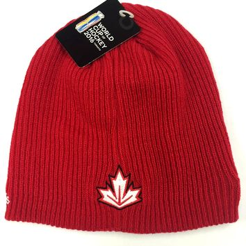 Team Canada 2016 World Cup Of Hockey Locker Room Beanie Hat By Adidas