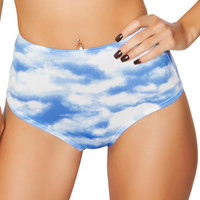 Cloud High-Waisted Scrunch Booty Shorts