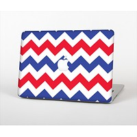 The Patriotic Chevron Pattern Skin Set for the Apple MacBook Air 13""