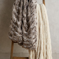 Puffed Faux-Fur Throw