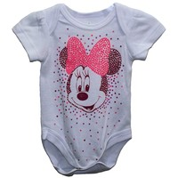 Disney Minnie Mouse Baby Girls' Bodysuit Dress Up Outfit