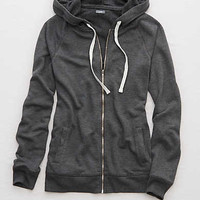 Aerie Fleece Hoodie, Medium Heather