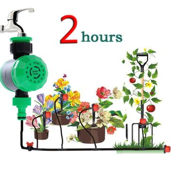 2 Hours Automatic LCD Electronic Water Timer Waterproof  Electronic Garden Timer