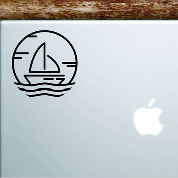 Sailboat V2 Laptop Decal Sticker Vinyl Art Quote Macbook Apple Decor Car Window Truck Boat Nautical Ocean Beach