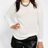 Sparkle & Fade Textured Roll Cuff Sweater