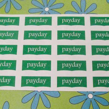 Payday Sticker, Planner Sticker, Reminder, Money, Planner Sticker, Erin Condren, Plum Paper, Filo Fax