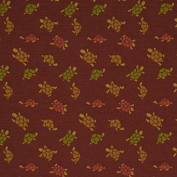 Robert Allen Fabric 135412 Little Turtles Merlot