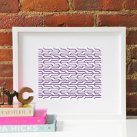Plum Purple Pattern Inspired by the High Line in NYC / New York City Original Modern Home Office Dorm Decor Graphic Pattern Print Poster