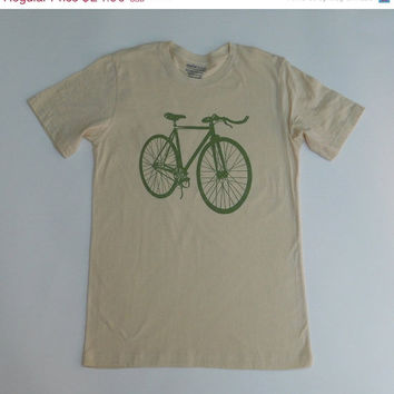 SALE Fixie Bicycle T-Shirt  - Screen Printed Men's Fixed Gear Bike Tee