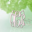 Star style monogram plated in rose gold --1 inch nameplate necklace- monogram jewelry