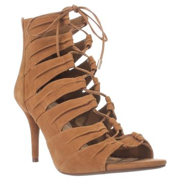 Jessica Simpson Mahiri Gladiator Ankle Booties, Honey Brown, 7 US / 37 EU