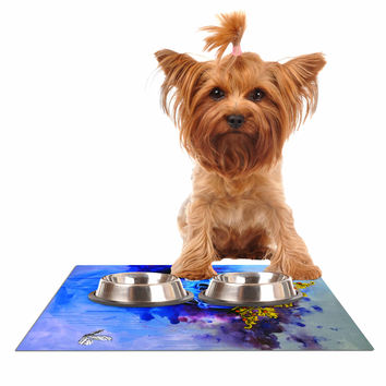 "Kira Crees ""Spiriti D'archivio"" Blue Multicolor Fantasy Painting Dog Place Mat"