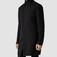 Mens Saul Coat (Black) | ALLSAINTS.com