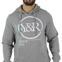 Young & Reckless Men's Pullover Y&R Circle Logo Hoodie Sweatshirt