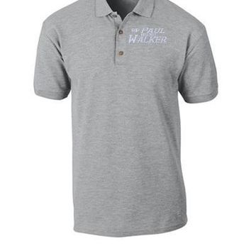 paul walker rip embroidery hat - Polo Shirt