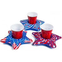 Patriotic Stars Beverage Boats 3-Pack