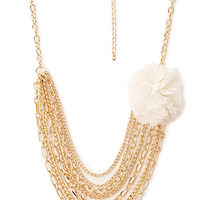FOREVER 21 Full Bloom Layered Necklace