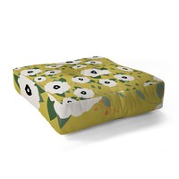 Allyson Johnson Garden Floral Floor Pillow Square
