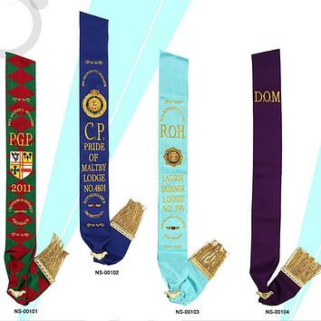 Royal Antediluvian Order of Buffaloes RAOB - Sashes