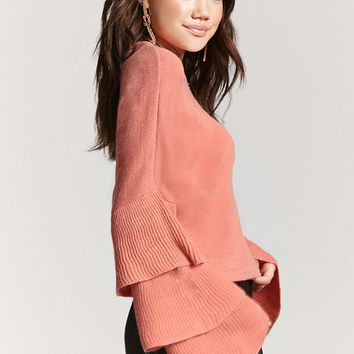 Tiered Bell-Sleeve Sweater