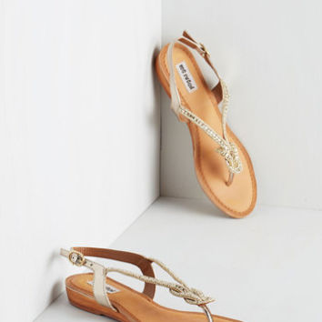 ModCloth Catch My Eye Sandal in White Gold